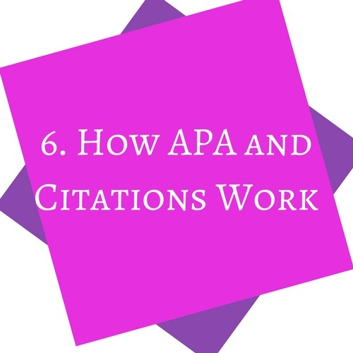 How APA and Citations Work