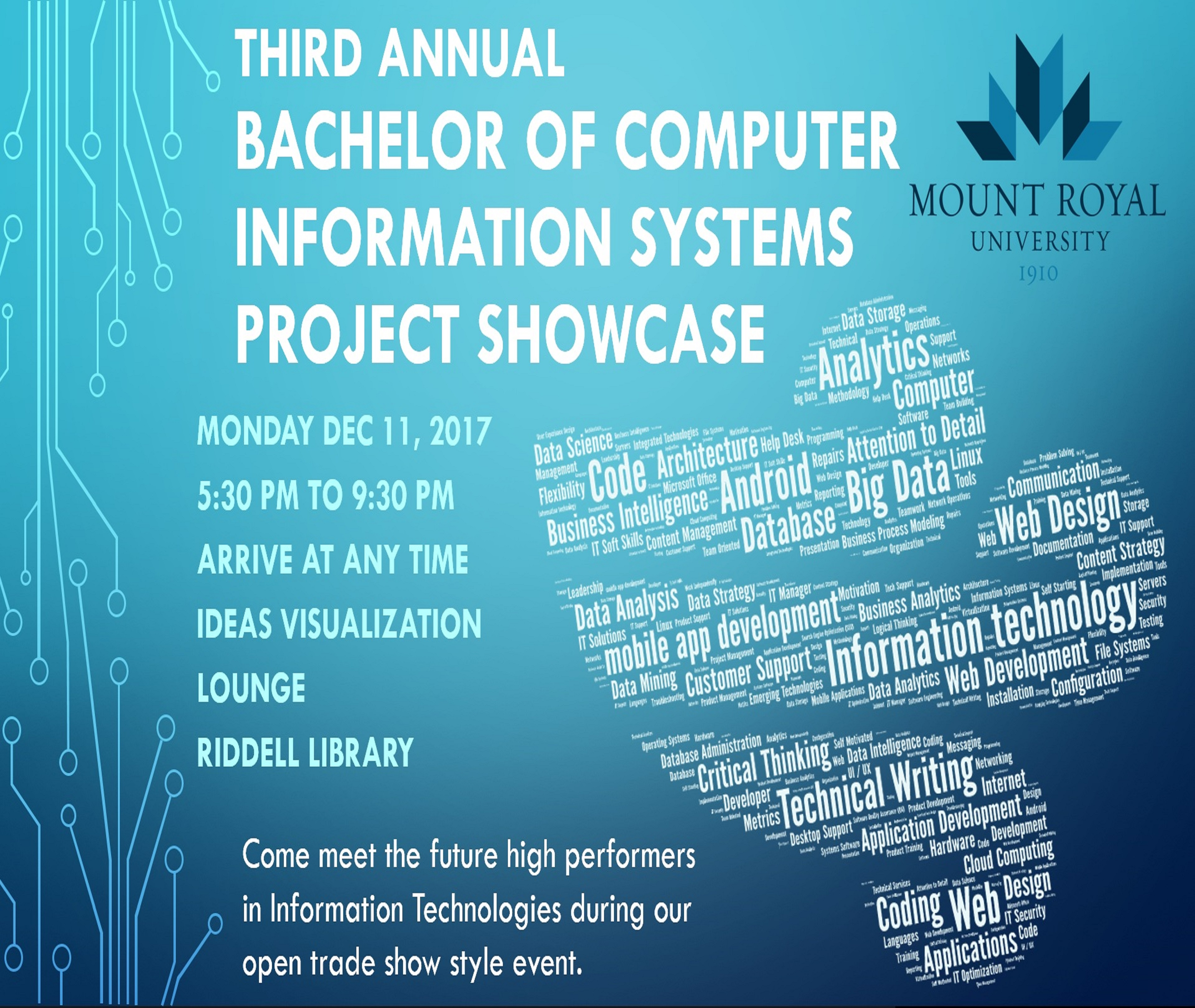 3rd Annual Bachelor of Computer Information Systems Showcase