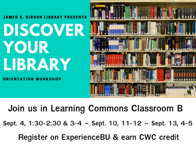 Discover Your Library - Orientation Workshop