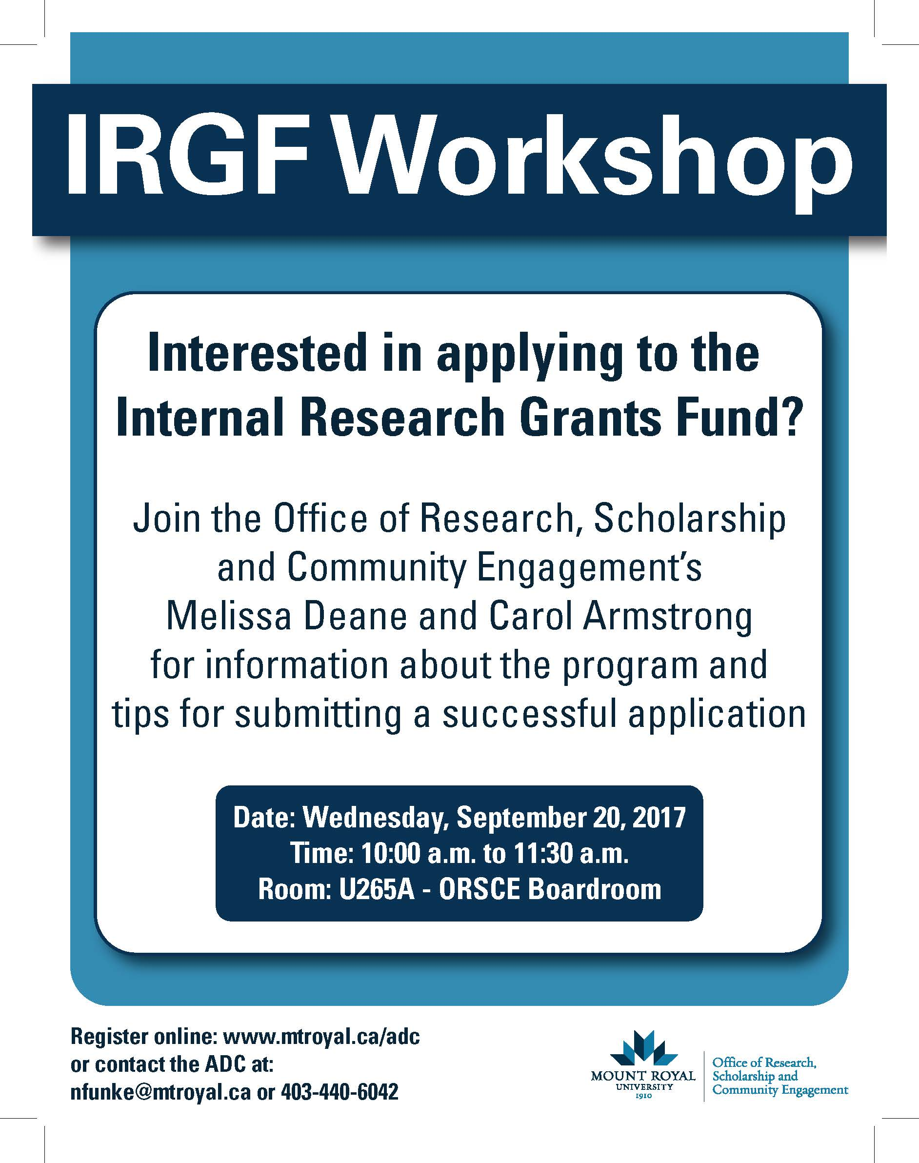 IRGF Workshop