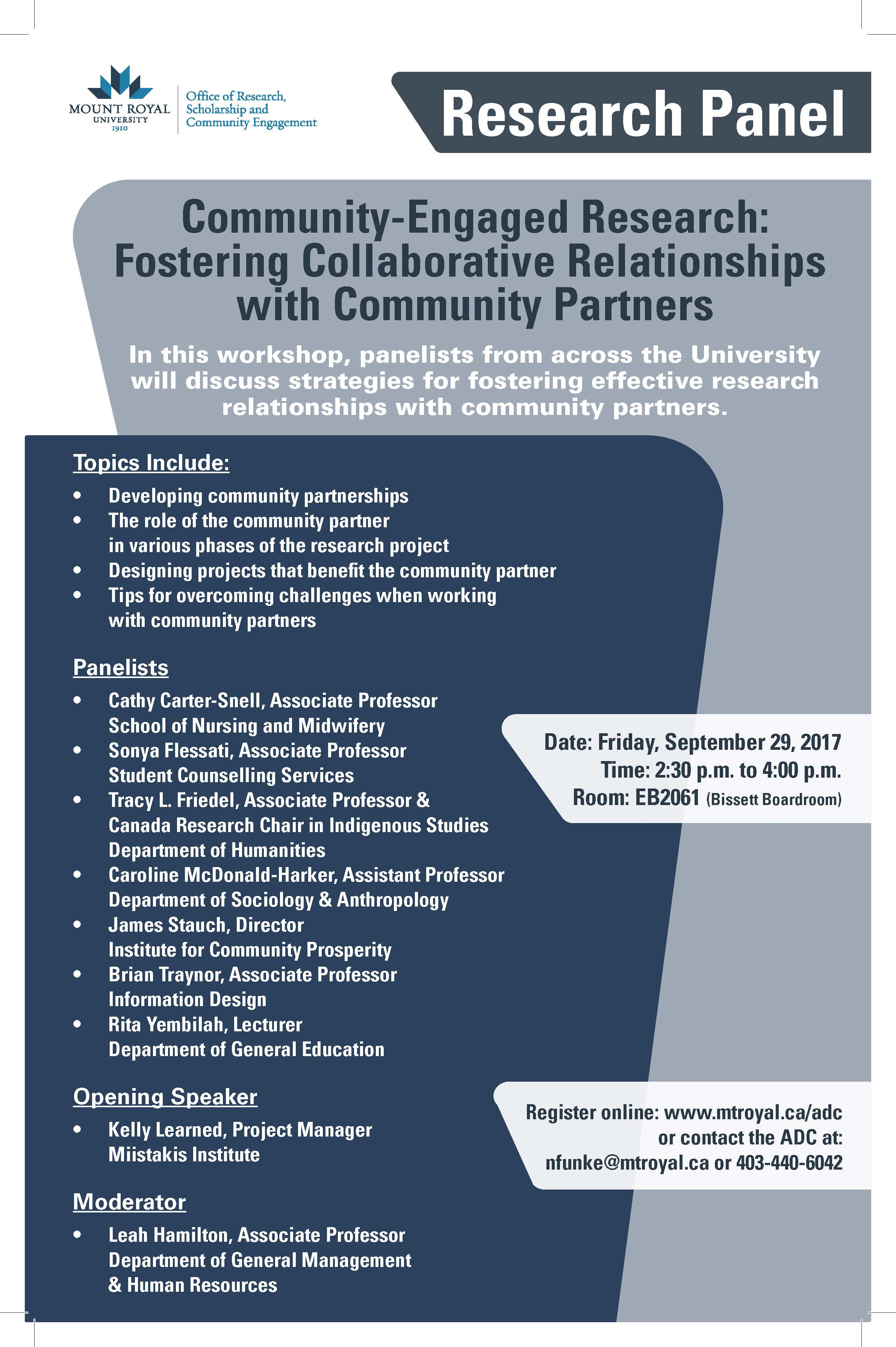 Community-engaged research: Fostering collaborative relationships with community partners.