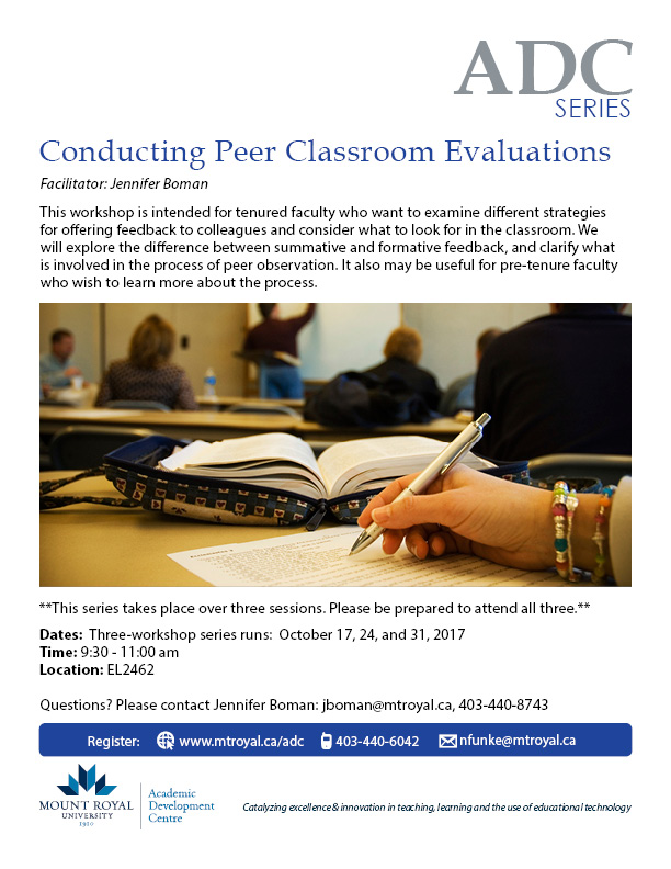 Conducting Peer Classroom Evaluations