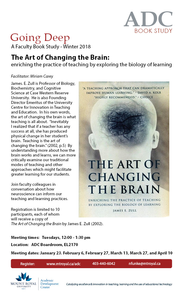 The Art of Changing the Brain - A Faculty Book Study, Winter 2018