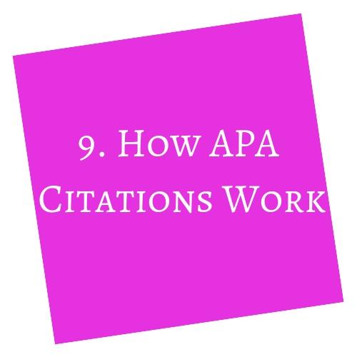 How APA Citations Work