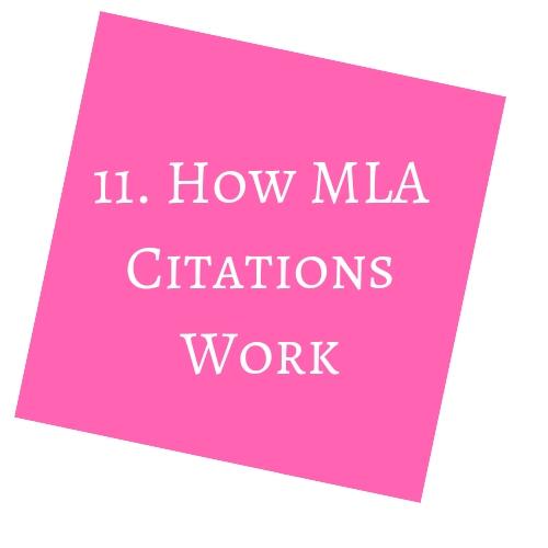 How MLA Citations Work