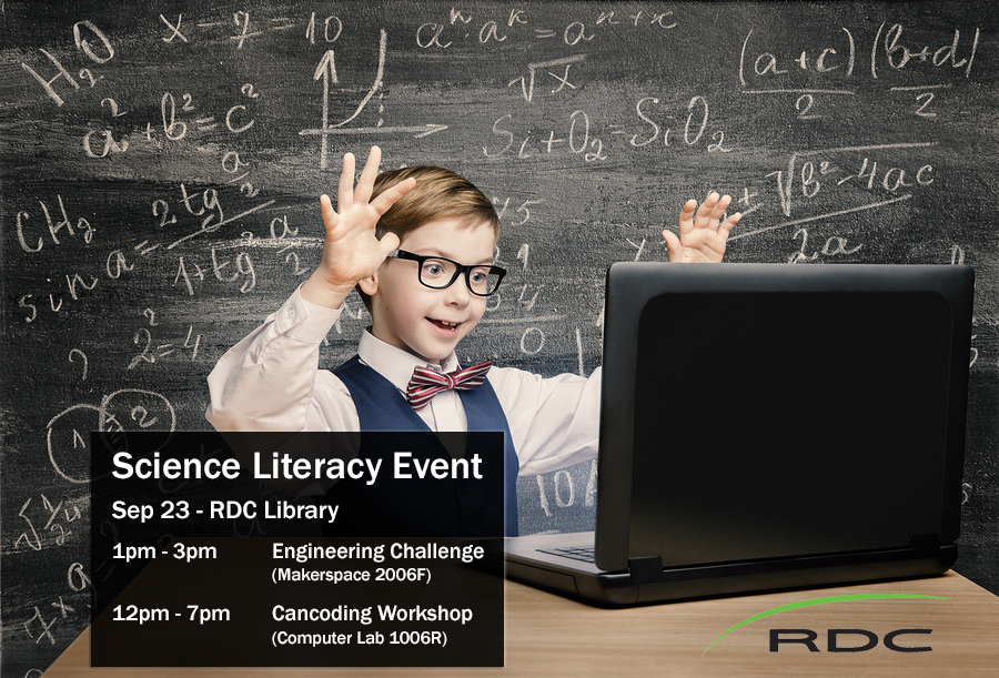 Science Literacy Week: CanCODE Workshop (Room 1006R)
