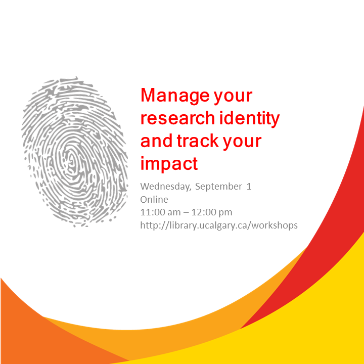 Manage your research identity and track your impact