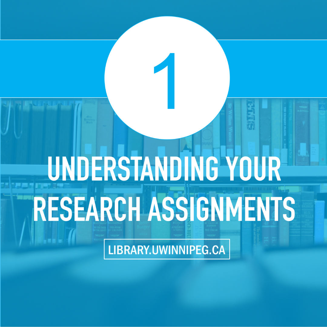 Understanding Your Research Assignments
