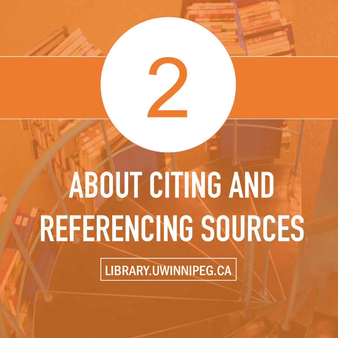 About Citing and Referencing Sources