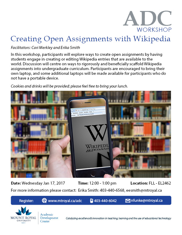 Creating Open Assignments with Wikipedia