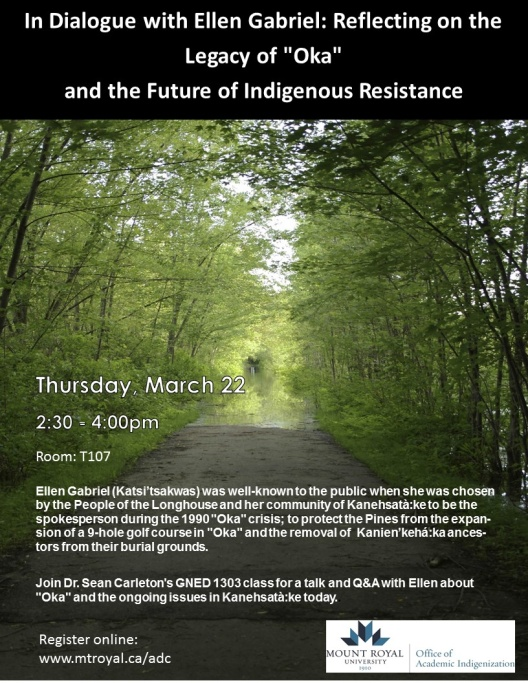 "In Dialogue with Ellen Gabriel: Reflecting on the Legacy of ""Oka"" and the Future of Indigenous Resistance"