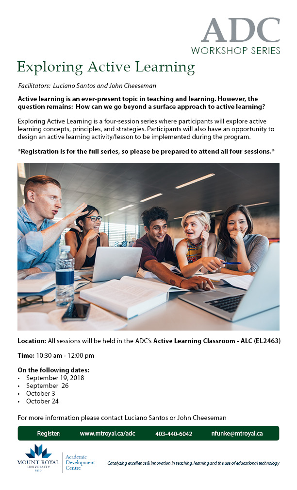 Exploring Active Learning: Four-Session Workshop Series