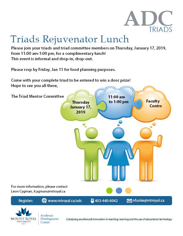 Triads Rejuvenator Lunch