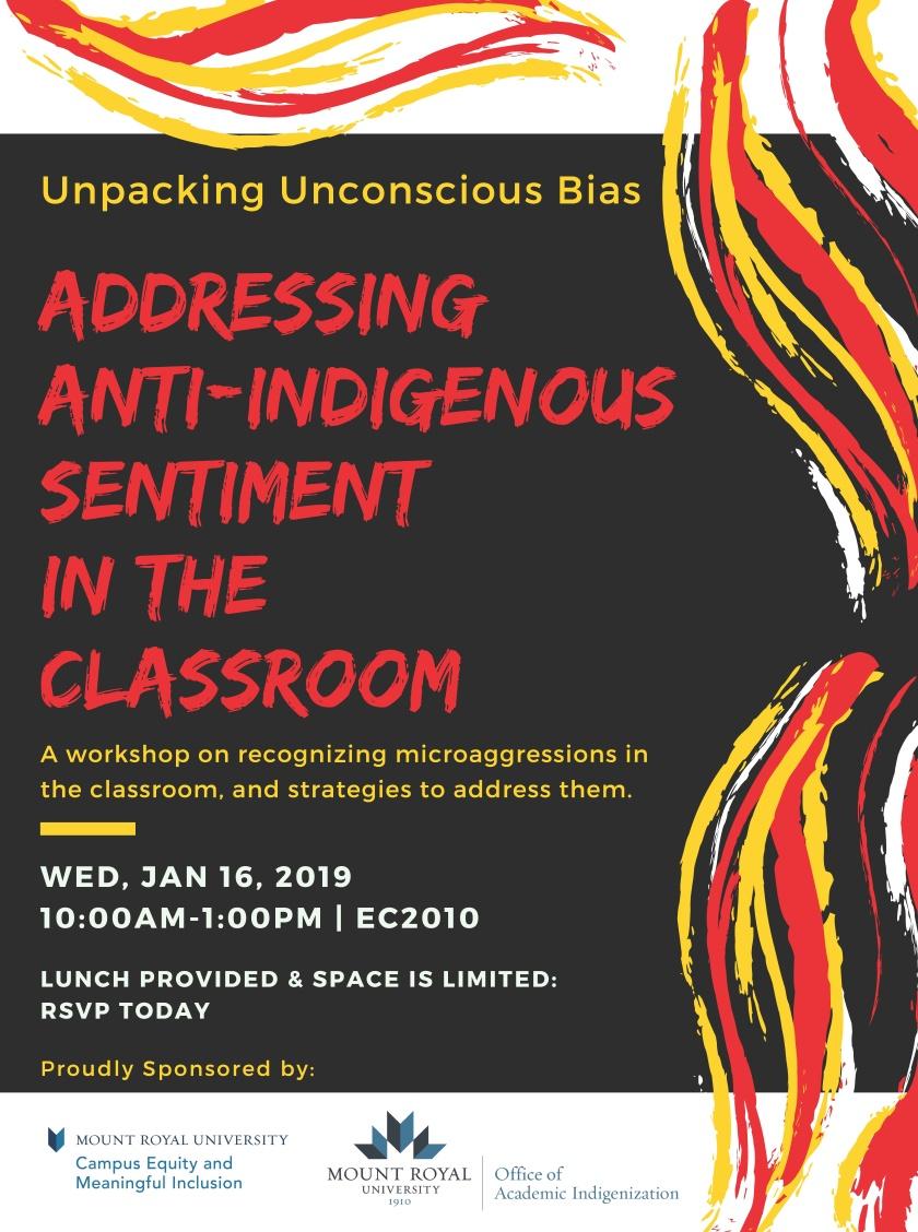 Unpacking Unconscious Bias: Addressing Anti-Indigenous Sentiment in the Classroom