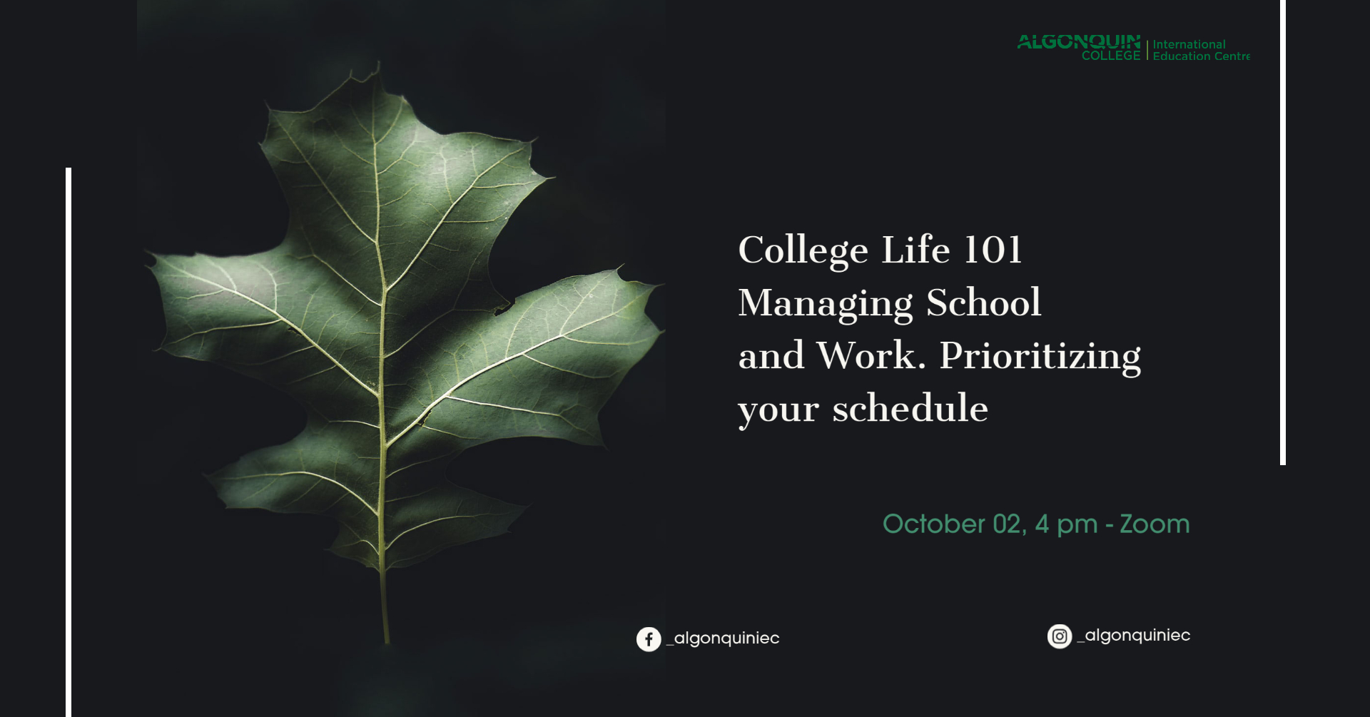 College Life 101 Managing School and Work. Prioritizing your schedule