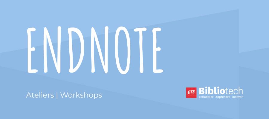 Online workshop : EndNote (English)