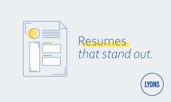 Resumes that stand out.