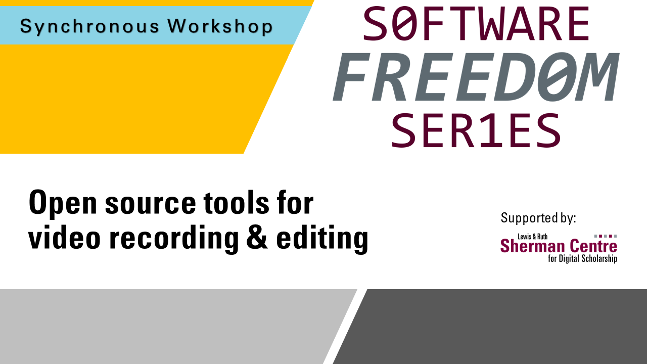 SFS: Open Source Tools for Video Recording & Editing