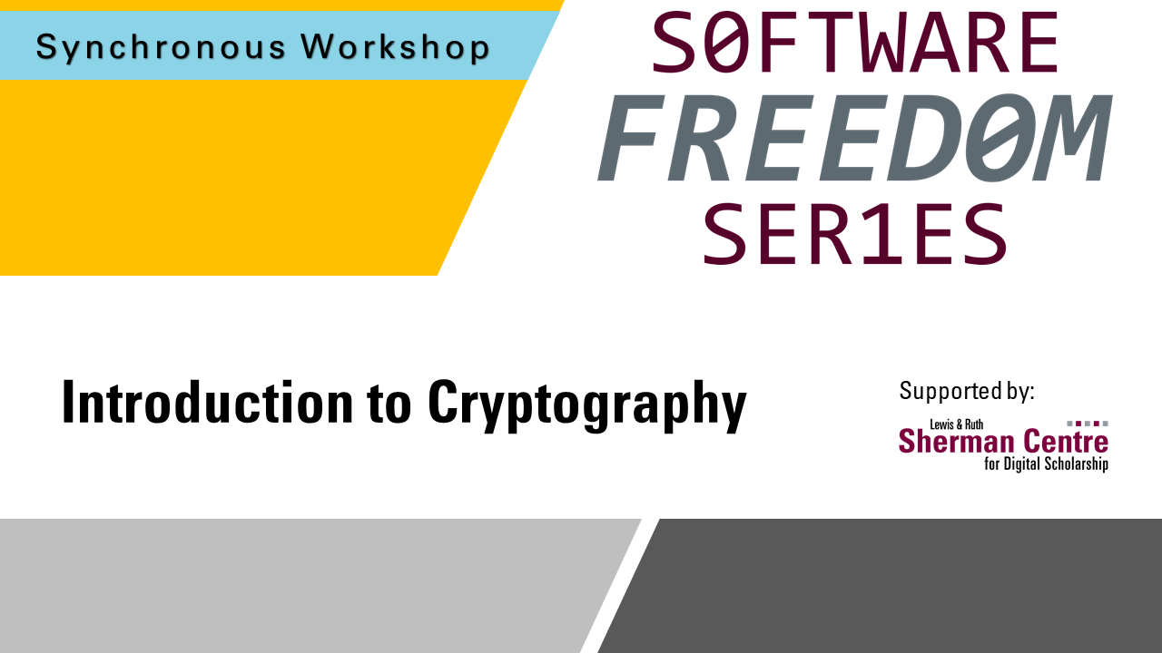 SFS: Introduction to Cryptography