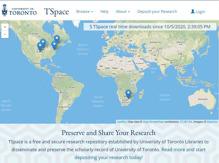 TSpace – U of T repository for your research